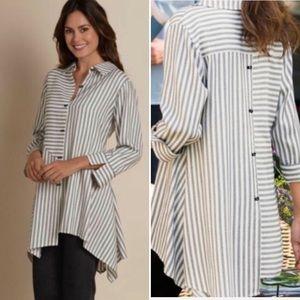 Soft Surroundings Standout Striped Tunic Shirt
